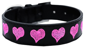 Embroidered Dog Collar Heart Large